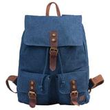 Рюкзак BRAUBERG (БРАУБЕРГ) для старшеклассников/<wbr/>студентов/<wbr/>молодежи, холщовый, «Синий», 20 литров, 38×13×43 см