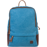 Рюкзак BRAUBERG (БРАУБЕРГ) W-162 для старшеклассниц/<wbr/>студенток, 12 л, холщовый, искусственная кожа, «Джинс», 32×25×11 см