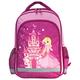 Рюкзак ПИФАГОР для учениц начальной школы, 20 л, розовый, «Принцесса», 38×28×14 см