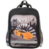 Рюкзак ПИФАГОР для учеников начальной школы, «Оранжевая машина», 15 литров, 38×30×14 см