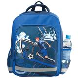 Рюкзак ПИФАГОР для учеников начальной школы, 19 л, синий, «Футболист», 38×30×14 см
