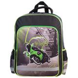 Рюкзак ПИФАГОР для учеников начальной школы, «Мотоциклист», 15 литров, 38×30×14 см