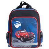 Рюкзак ПИФАГОР для учеников начальной школы, 19 л, сине-черный, «Красный внедорожник», 38×30×14 см