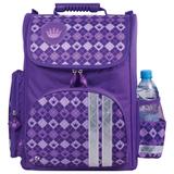Ранец жесткокаркасный BRAUBERG (БРАУБЕРГ) для учениц начальной школы, 20 л, фиолетовый, «Клетка», 38×29×16 см