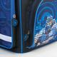 Ранец жесткокаркасный BRAUBERG (БРАУБЕРГ) для учеников начальной школы, 20 л, черно-синий, «Робот», 38×29×16 см
