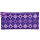 Пенал-косметичка BRAUBERG (БРАУБЕРГ) для учениц начальной школы, фиолетовый, «Клетка», 21×10 см