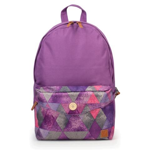 Рюкзак BRAUBERG (БРАУБЕРГ), универсальный, сити-формат, фиолетовый, карман с пуговицей, 20 литров, 40×28×12 см