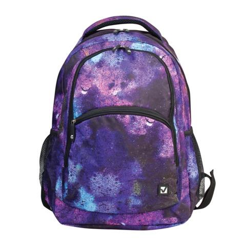 Рюкзак BRAUBERG (БРАУБЕРГ), универсальный, сити-формат, фиолетовый, «Космос», 30 литров, 45×32×18 см