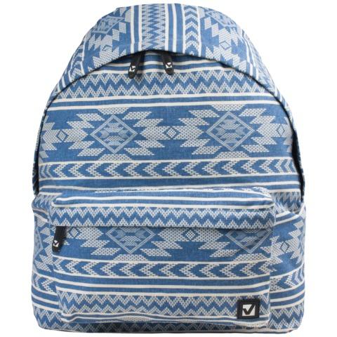 Рюкзак BRAUBERG (БРАУБЕРГ), универсальный, сити-формат, голубой, «Нордик», 20 литров, 41×32×14 см