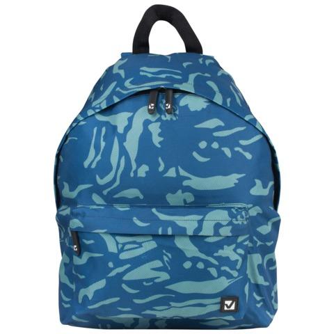 Рюкзак BRAUBERG (БРАУБЕРГ), универсальный, сити-формат, синий, «Камуфляж», 20 литров, 41×32×14 см