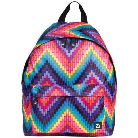 Рюкзак BRAUBERG, универсальный, сити-формат, разноцветный, «Регги», 20 литров, 41×32×14 см