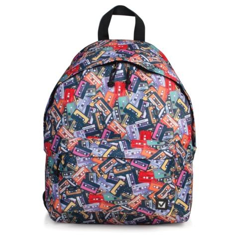 Рюкзак BRAUBERG (БРАУБЕРГ), универсальный, сити-формат, разноцветный, «Кассеты», 20 литров, 41×32×14 см