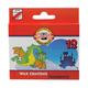 Восковые карандаши KOH-I-NOOR «Дракончик», 12 цветов, картонная упаковка с европодвесом