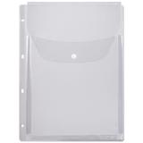 Папка-файл перфорированная, А4, объемная, до 200 листов, клапан с кнопкой, 0,18 мм, ДПС