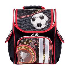 Ранец жесткокаркасный BRAUBERG для учеников начальной школы, «Футбол», 18 литров, 35×26×15 см