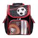 Ранец жесткокаркасный BRAUBERG (БРАУБЕРГ) для учеников начальной школы, 18 л, черно-красный, «Футбол», 35×26×15 см