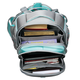 Ранец жесткокаркасный BRAUBERG (БРАУБЕРГ) для учениц средней школы, 17 л, 2 отделения, серый, «Мята», 38×28×12 см