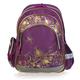 Рюкзак BRAUBERG (БРАУБЕРГ) для учениц начальной школы, 24 л, фиолетово-золотой, «Цветы», 42×28×15 см