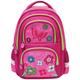 Рюкзак BRAUBERG (БРАУБЕРГ), с EVA спинкой, для учениц начальной школы, 19 л, розово-малиновый, «Розовые цветы», 38×30×14 см