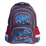 Рюкзак BRAUBERG (БРАУБЕРГ), с EVA спинкой, для учеников начальной школы, 19 л, синий, «Внедорожник», 38×30×14 см