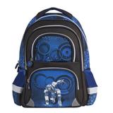 Рюкзак BRAUBERG (БРАУБЕРГ), с EVA спинкой, для учеников начальной школы, 19 л, черно-синий, «Робот», 38×30×14 см