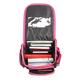 Ранец жесткокаркасный раскладной BRAUBERG (БРАУБЕРГ) для учениц начальной школы, 20 л, розово-черный, «Котята», 37×29×17 см