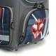 Ранец жесткокаркасный раскладной BRAUBERG (БРАУБЕРГ) для учеников начальной школы, 20 л, серый, «Красная машина», 37×29×17 см