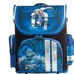 Ранец жесткокаркасный BRAUBERG для учеников начальной школы, «Робот», 20 литров, 37×29×17 см