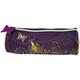 Пенал-косметичка BRAUBERG (БРАУБЕРГ) для учениц начальной школы, фиолетово-золотой, «Цветы», 21×7×7 см