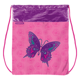 Сумка для обуви ПИФАГОР для учениц начальной школы, розовая, бабочки, 42×34 см