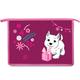 Папка для тетрадей BRAUBERG (БРАУБЕРГ), А4, пластик, молния сверху, цветная печать, для девочек, щенок
