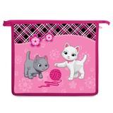 Папка для тетрадей BRAUBERG (БРАУБЕРГ), А5, пластик, молния сверху, цветная печать, для девочек, котята