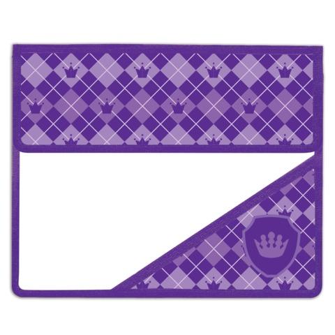 Папка для тетрадей BRAUBERG (БРАУБЕРГ), А5, пластик, на липучке, с уголком, для девочек, фиолетовая, клетка