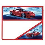 Папка для тетрадей BRAUBERG (БРАУБЕРГ), А5, пластик, на липучке, с уголком, для мальчиков, красный авто