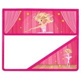 Папка для тетрадей BRAUBERG (БРАУБЕРГ), А5, пластик, на липучке, с уголком, для девочек, балерина