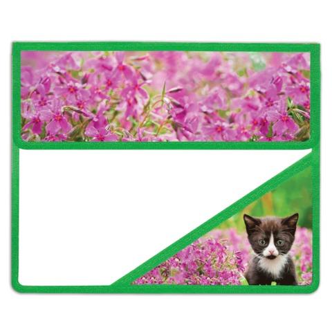 Папка для тетрадей BRAUBERG (БРАУБЕРГ), А5, пластик, на липучке, с уголком, для девочек, котенок