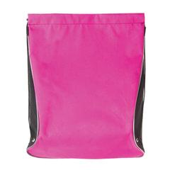Сумка для обуви BRAUBERG для девочек, суперплотная, увеличеннный объем, черная/<wbr/>малиновая, 44×37 см