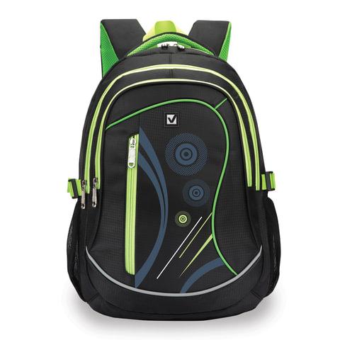 Рюкзак BRAUBERG (БРАУБЕРГ) для старших классов/<wbr/>студентов/<wbr/>молодежи, «Неон», 30 литров, 46×34×18 см