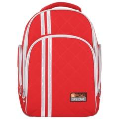 Рюкзак TIGER FAMILY (ТАЙГЕР) для средней школы, универсальный, красный, 39×31×22 см, 19 л