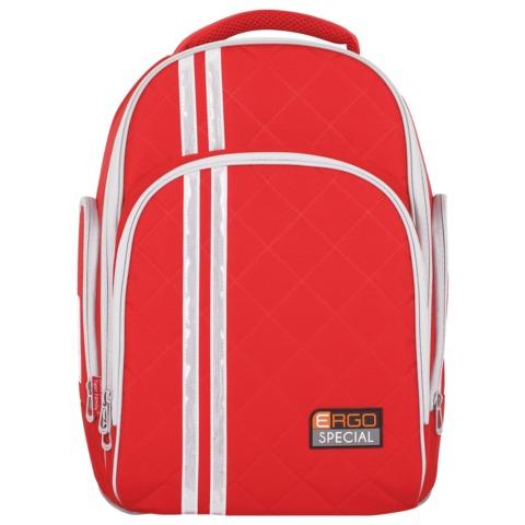 Рюкзак с ортопедической спинкой TIGER FAMILY (ТАЙГЕР) Полосы, красный, 19 л, 39×31×22 см