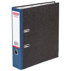Папка-регистратор ОФИСМАГ, фактура стандарт, с мраморным покрытием, 80 мм, синий корешок