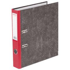 Папка-регистратор ОФИСМАГ, фактура стандарт, с мраморным покрытием, 50 мм, красный корешок