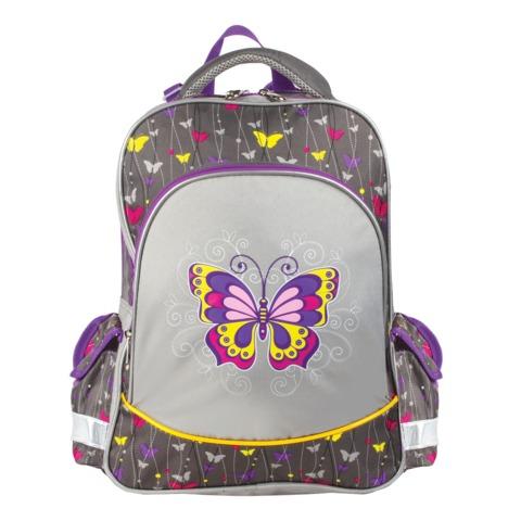 """Рюкзак ERICH KRAUSE для учениц начальной школы, 16 л, """"Fairy Butterfly"""", 37х31х14 см"""