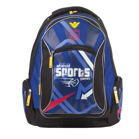 """Рюкзак ERICH KRAUSE для учеников средней школы, 17 л, """"Advanced Games"""", 42х30х14 см"""
