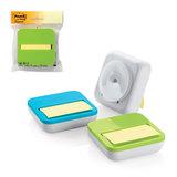 Диспенсер для блоков (стикеров) POST-IT, настольный, компактный + блок 76×76 мм, 50 л., ассорти
