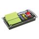 Диспенсер для блоков (стикеров) POST-IT «Миллениум», комбинированный +12 блоков 76×76 мм, 100 л., закладки