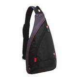 Рюкзак WENGER (Швейцария), универсальный, черно-серый, с одним плечевым ремнем, 25×15×45 см, 7 л