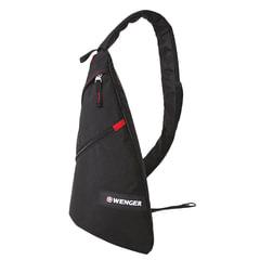 Рюкзак WENGER (Швейцария), универсальный, черный, с одним плечевым ремнем, 7 л, 25×15×45 см