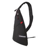Рюкзак WENGER (Швейцария), универсальный, черный, с одним плечевым ремнем, 25×15×45 см, 7 л