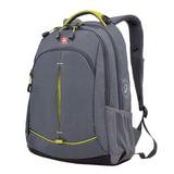 Рюкзак WENGER для старшеклассников/<wbr/>студентов, универсальный, серый, желтые вставки, 22 литра, 32×15×46 см